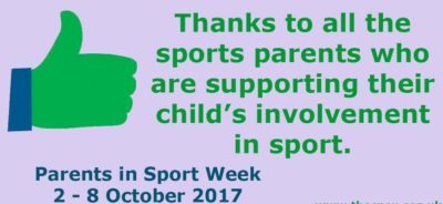Supporting Parents in Sport Week 2017